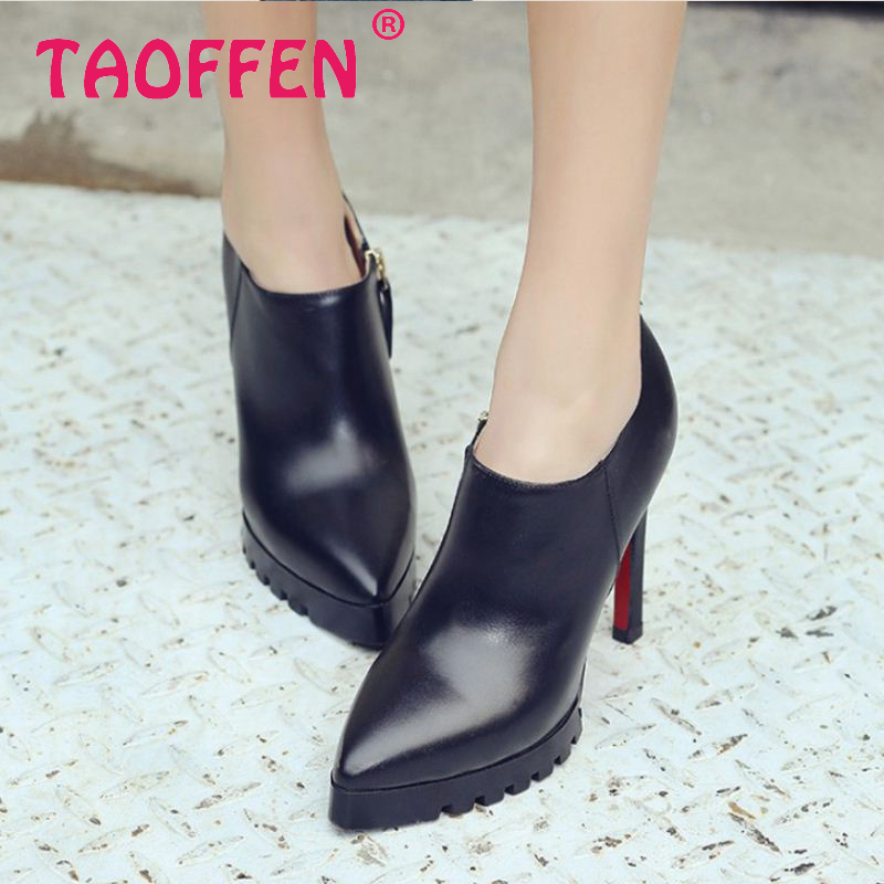 women pointed toe real genuine leather high heel shoes zipper brand sexy heels fashion pumps heeled shoes size 33-40 R08631<br>