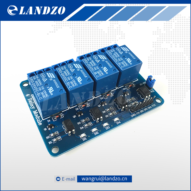 Free 4 channel relay module 4-channel relay control board optocoupler. Relay Output 4 way relay module arduino