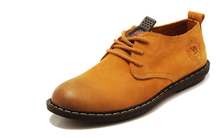 2016 British style retro genuine camel shoes breathable shoes. Casual shoes men(China (Mainland))