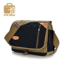 Hot Sale Fashion Canvas Mens Shoulder Bags Vintage School Messenger Bag Mens Business Men Brand Bag 2016 Travel Duffel Bag(China (Mainland))