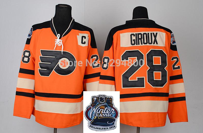 Discount Mens Philadelphia Flyers Orange Stitched Ice ...