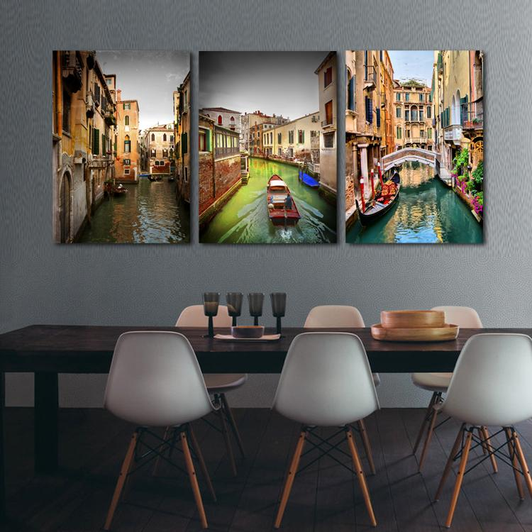 New arrival oil painting Italy landscape cuadros decoracion print on canvas wall art craft home decor pictures RM-CF-004(China (Mainland))