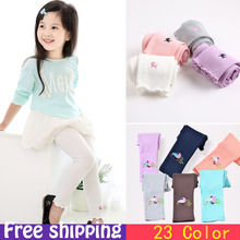 Pants 2015Candy dot girls leggings Toddler classic Leggings 2 13Y children trousers kids leggings girl pants