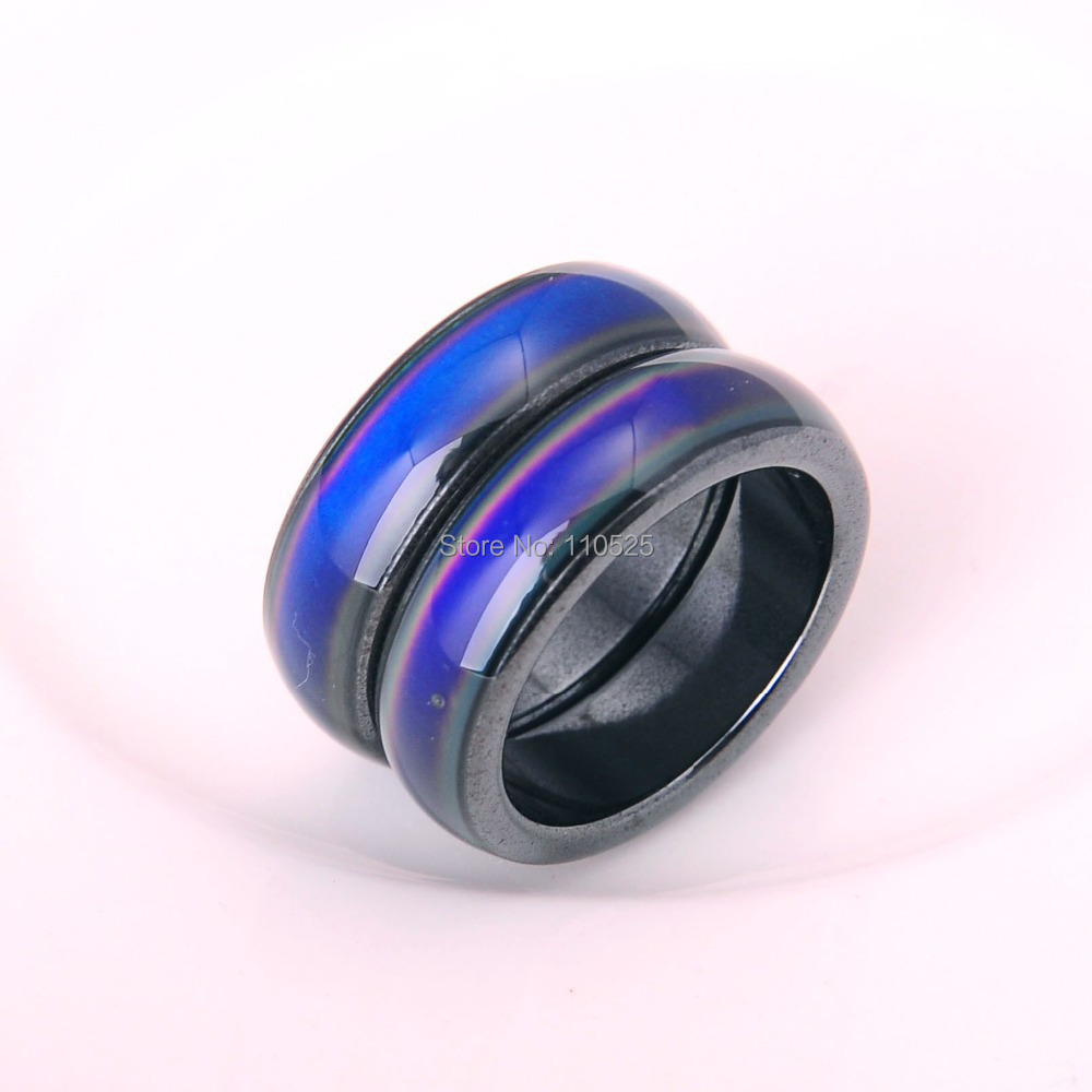Fashion Magnetic hematite mood ring for men and women ring jewelry Hot Sale Wholesale 10pcs/lot(China (Mainland))