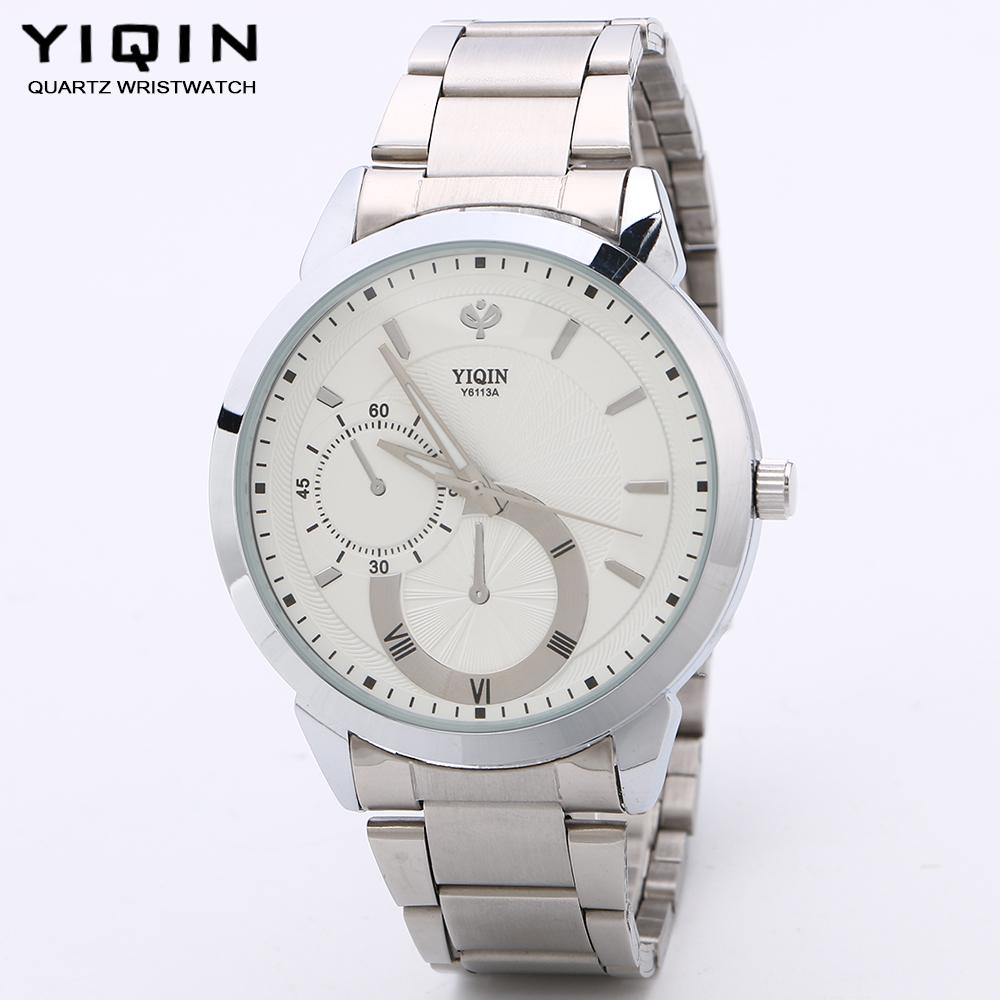 YIQIN 2016 Men and women silver Watches Brand fashion Casual Quartz Watch Sport waterproof Wristwatch relogio masculino Lover's(China (Mainland))