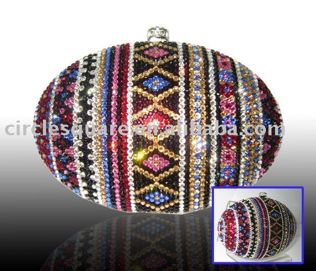 crystal purses 100% swarovski bling bling handcraft+High quality+Free Shipping