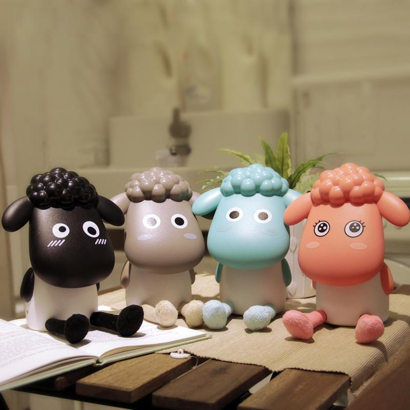 Rechargeable USB Desk Lamp Cute Sheep Dimmable Table Light For Living Room Computer Creative Birthday Gifts For Girlfriend Child(China (Mainland))