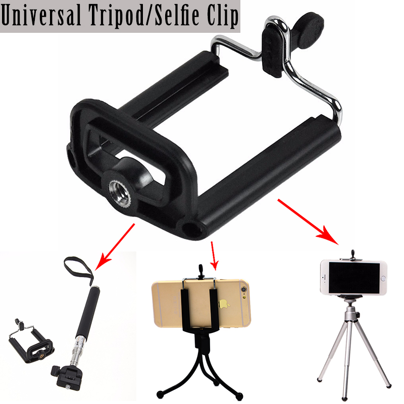 Universal Mobile Phone Camera Stand Clip Holder Mount Bracket Adapter Tripod for iphone6 5s 5c 4s for Samsung palo selfie clamp