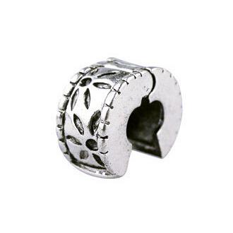 Free Shipping 1pc Jewelry 925 Bead Alloy Charm European Flower Stopper Bead Fit Pandora Bracelets & Bangles H1002(China (Mainland))