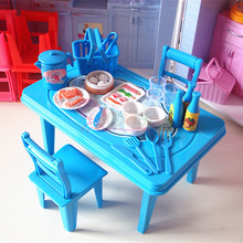 Play toy chair accessories kitchen furniture table Siwan toys toys decoration scene of small toys(China (Mainland))