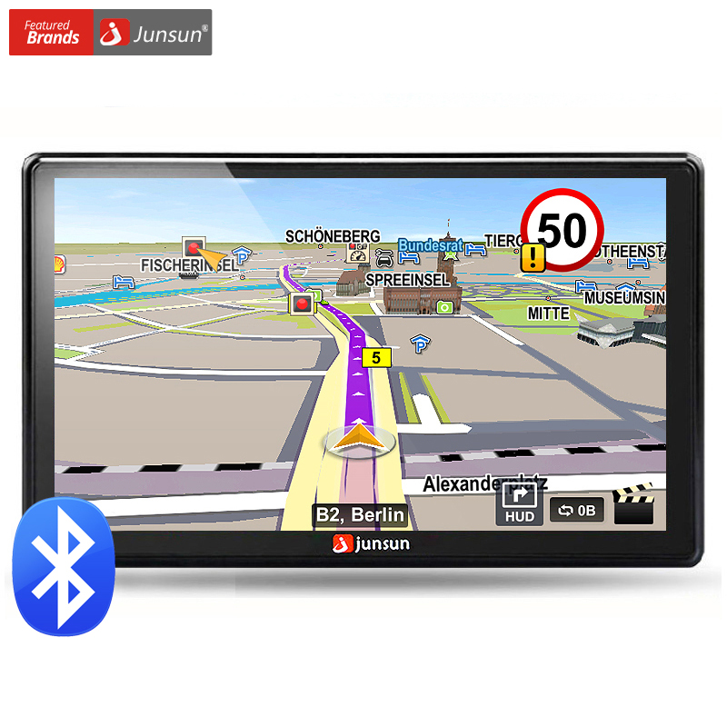 Junsun 7 inch HD Car GPS Navigation FM 8GB 256M DDR Map Free Upgrade Navitel Europe Sat nav Truck gps navigators automobile(China (Mainland))