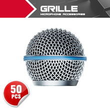 50pc New Replacement Ball Head Mesh Microphone Grille for Shure BETA58 BETA58A SM58 SM58S SM58LC(China (Mainland))