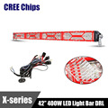 Red X series CREE Chips LED Light Bar DRL 42 400W Combo Beam Eagle Eye Dual