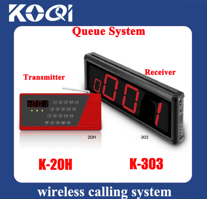 Wireless Queue System couner or waiter call customer when food ready(China (Mainland))