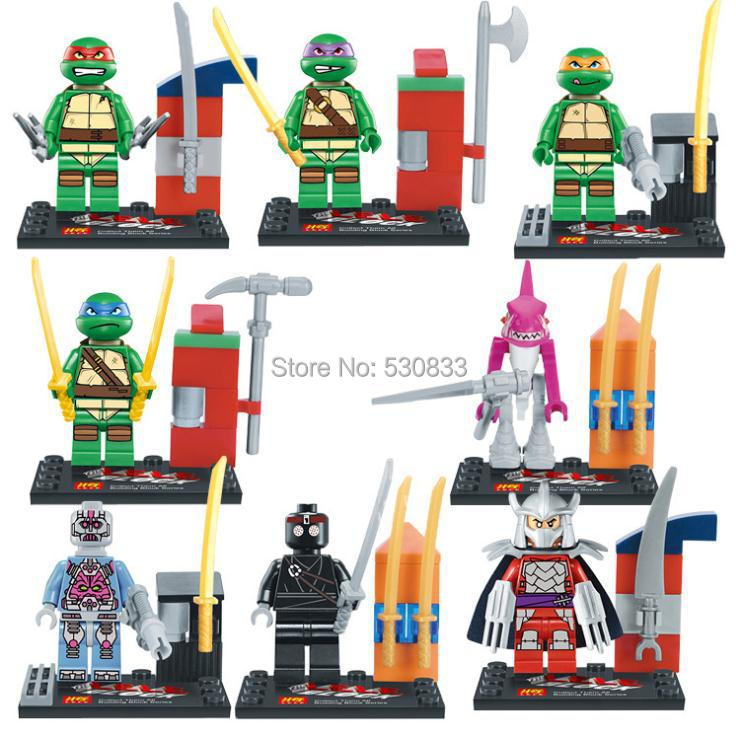 Teenage Mutant Ninja Turtles Building Blocks Sets toys LELE 78016 Action Figure Kids Educational Toys Compatible Lego, T8  -  factory LEGOtoys store