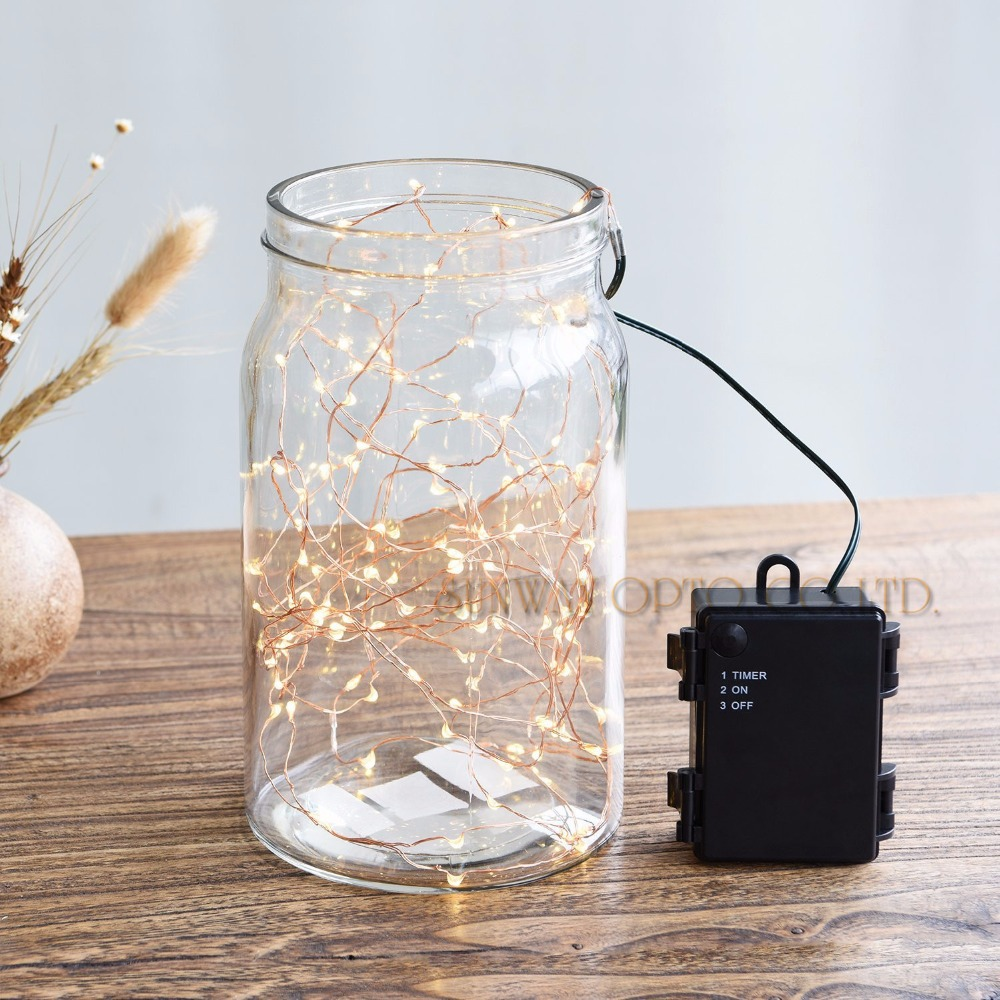 Batterry Powered LED String Lights 50LED Outdoor Indoor Waterproof Starry String Copper Wire Lights For Christmas Wedding Dcro(China (Mainland))