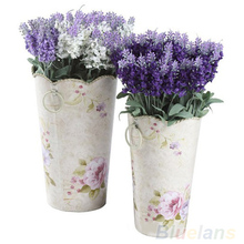 10 Heads Artificial Lavender Silk Flower Bouquet Wedding Home Party Decor for Display 01P1