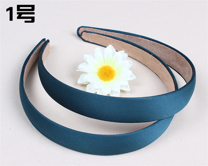 Lady Satin Headband Hair Band Alice Band Hairband bow 2 cm Wide(China (Mainland))