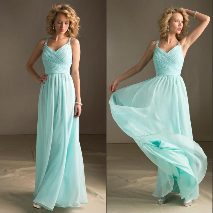 Wholesale spaghetti strap empire ruffle chiffon maxi light for Light green wedding dress