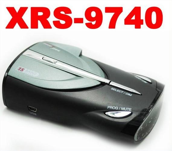 2013 Radar detector Cobra XRS 9740 car Radar detector 15 Band supporting English Russian language&free shipping(China (Mainland))