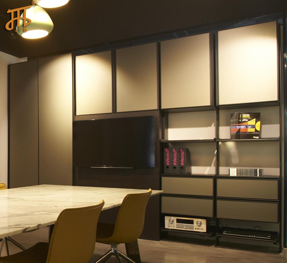 2016 new design aluminum profile tv cabinet book rack in tv stands