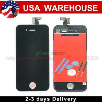 Free Shipping for iPhone 4 4G LCD Display+Touch Screen Digitizer + Frame White or Black 100% Guarantee