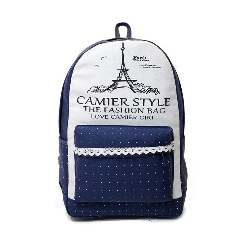 2016 new Young men and women famous brand designer general fashion female bag backpack institute wind han edition canvas bags(China (Mainland))