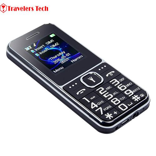 Cheap Original D-horse D100 Quad Band GSM 5 LED Torch Big Keyboard Senior Old Man Mobile Phone(China (Mainland))