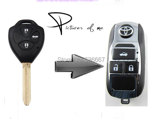 kl117 replacement remodel case flip folding remote chrome key shell fob for toyota camry avalon. Black Bedroom Furniture Sets. Home Design Ideas