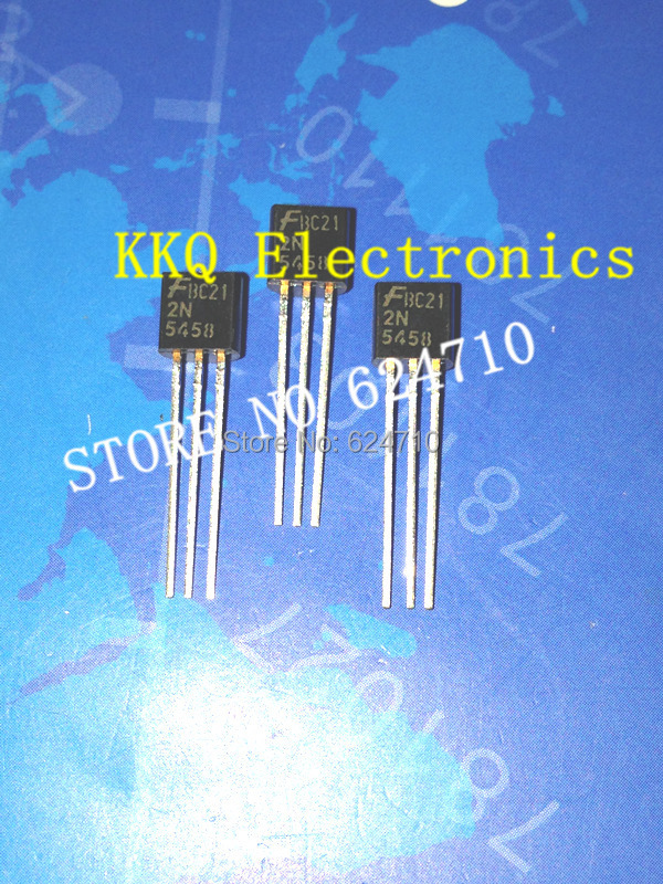 Free shipping 2N5458 100PCS original JFET N-Channel 25V 625MW TO-92 Silicon Transistor Triode Power Transistor(China (Mainland))
