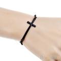 New Fashion Korean Women Metal Cross Simple Charm Bracelet 3 colors Silver Gold Black bracelets bangles