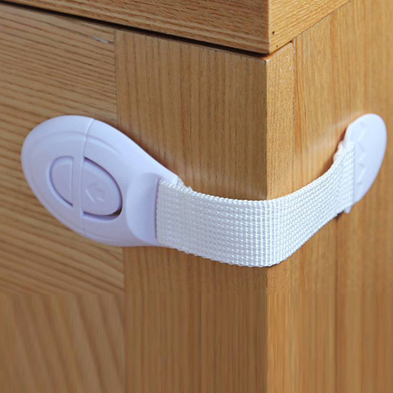1 pcs Baby safety lock child lock Door Drawers Refrigerator Toilet Safety Plastic Lock For Child Kid safety Security products(China (Mainland))