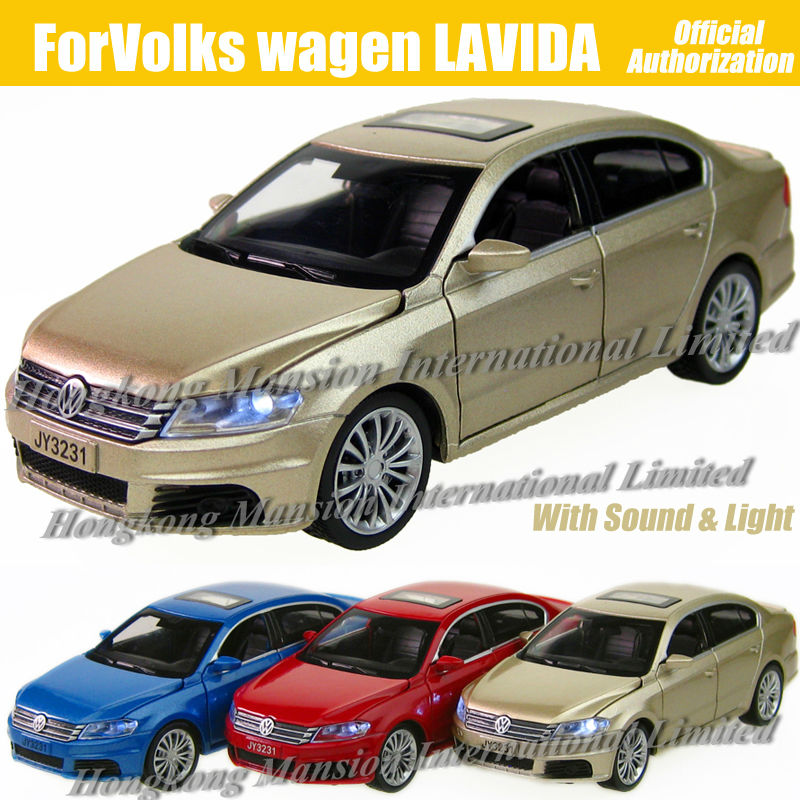 1:32 Scale Diecast Alloy Metal Luxury Car Model ForVW LAVIDA Collection Model Pull Back Toys Car With Sound&Light(China (Mainland))
