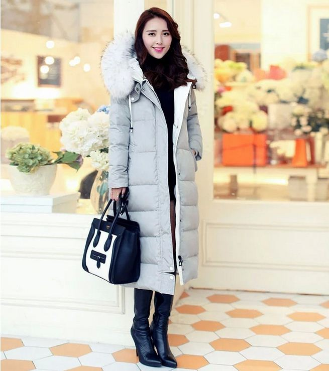 Здесь можно купить  2015 Womens Winter Jackets And Coats Fur Collar Plus Size Down Coat Women Thickening Long Parka  Одежда и аксессуары