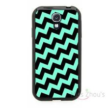 For iphone 4/4s 5/5s 5c SE 6/6s plus ipod touch 4/5/6 back skins mobile cellphone cases cover Baby Blue Black Crooked Chevron