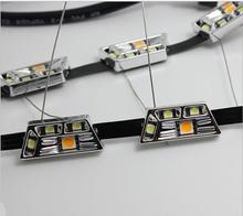 Buy 2Pcs White+Yellow 8W Daytime Running Lamp Switchback Flexible LED Strip Light 12V Fog DRL Turn Signal Light 100LM Hyundai for $26.87 in AliExpress store