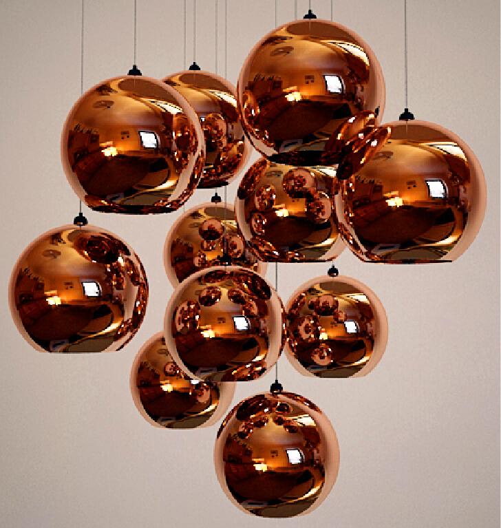LEDream TomDixon plating glass ball chandelier restaurant hotel bar KTV corridor ball pendant lamp<br><br>Aliexpress