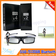 4pcs/lot SSG-5100GB SAMSUNG 3D TVs Active Shutter Glasses / Battery SSG-5100GB