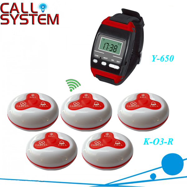1 Set Wireless Call Calling System Waiter Server Paging Service System for Restaurant Pub Bar Y-650+O3(China (Mainland))
