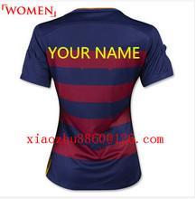 Best  quality 2016 Barcelonaes soccer jersey MESSI SUAREZ 2016 home jerseys away soccer Adult NEYMAR JR woman football shirt(China (Mainland))