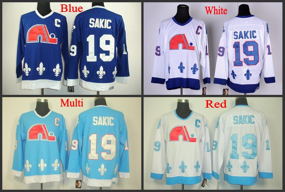 Wholesale authentic Quebec Nordiques Jersey #19 Joe Sakic ...