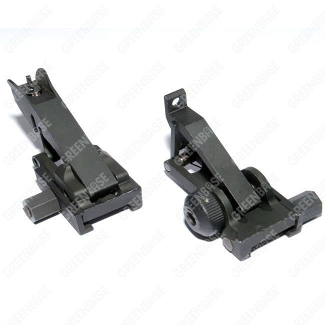 New metal folding front and rear sights black free shipping<br><br>Aliexpress