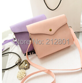 small women handbag 2014 new vintage mini message bag little cell phone bag tote PU clutches shoulder bag free shipment(China (Mainland))