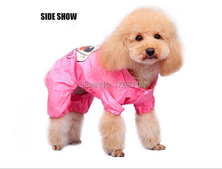 New Pet Dog Cat Raincoat Clothes Puppy Hoody Waterproof Rain Jackets Free&DropShipping gift idea(China (Mainland))