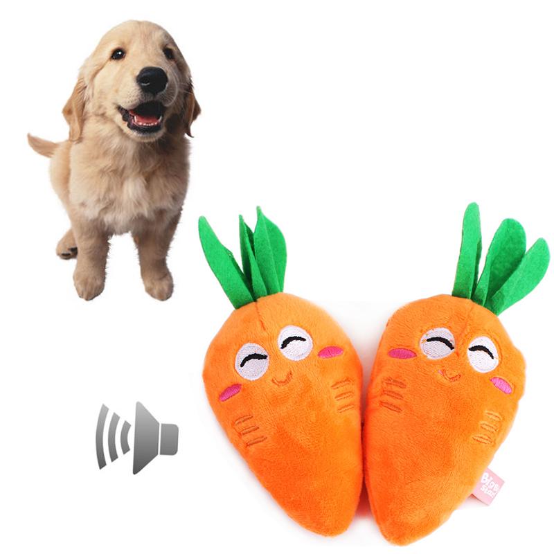 Красивая морковь собака скрипучий игрушки плюшевые морковь стиль щенок оранжевый прорезывания зубов игрушки жевать игрушки squeakers