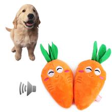 Красивая морковь собака скрипучий игрушки плюшевые морковь стиль щенок оранжевый прорезывания зубов игрушки жевать игрушки squeakers собака продукты