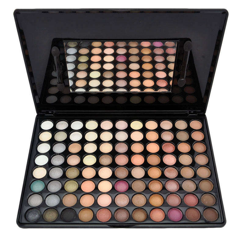 New Fashion Popular 2 pcs 88 Warm Matte Color Makeup Naked Eye Shadow Palette For Party with Mirror &amp; eyeshadow brushes on sale<br><br>Aliexpress