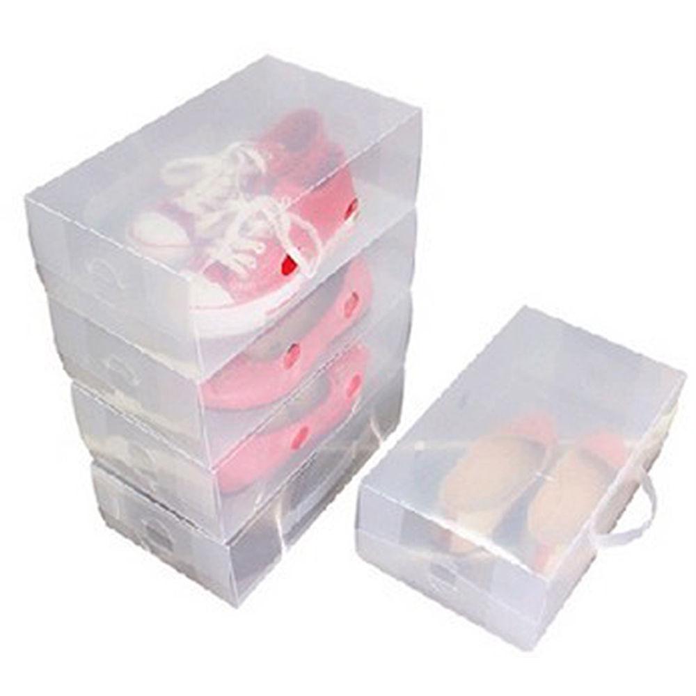 10 mens stackable plastic clear transparent shoe
