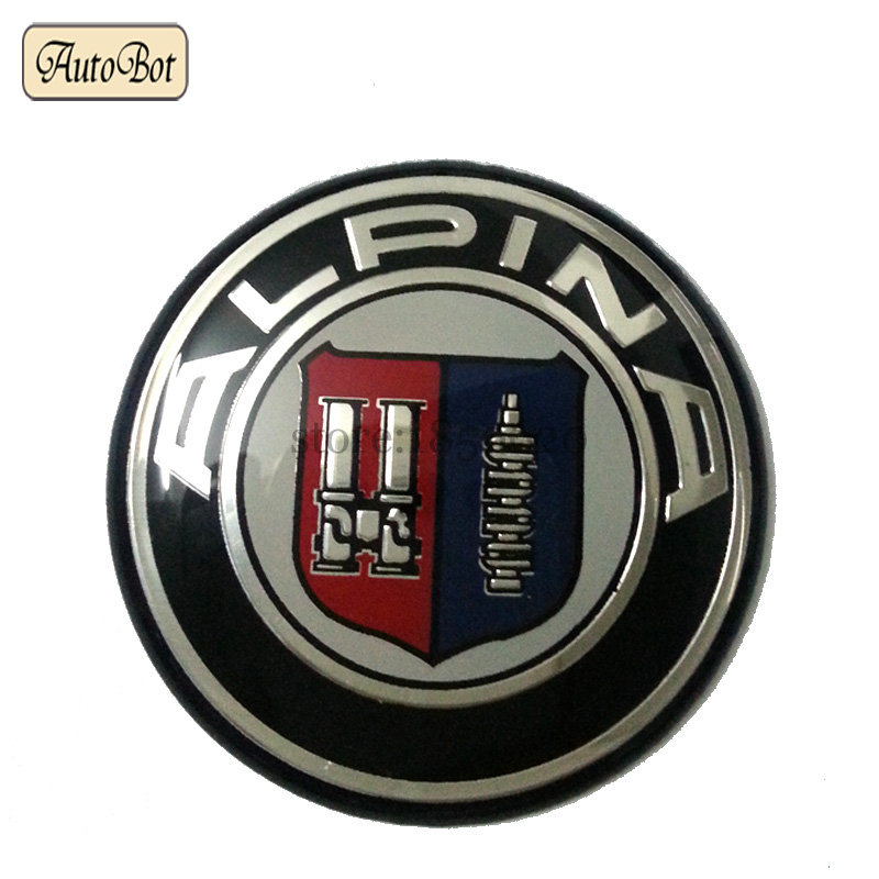1PCS New high quality for Alpina 45mm emblem for BMW car styling steering wheel sticker badge logo emblems(China (Mainland))