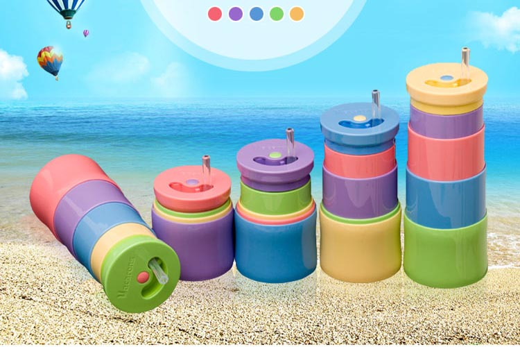 2015 New Hot Portable Silicone Retractable Folding Cup Telescopic Collapsible Outdoor Travel Water Bottles C40